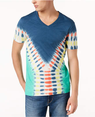 GUESS Men Tie-Dye V-Neck T-Shirt