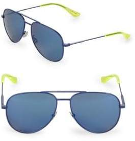 Saint Laurent 59MM Fluro Aviator Sunglasses