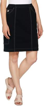 Factory Quacker DreamJeannes Pull-On Skort w/ Rhinestone Detail