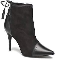 San Marina Women's Vampira Zip-up Ankle Boots in Black