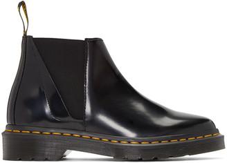 Dr. Martens Black Bianca Chelsea Boots $140 thestylecure.com
