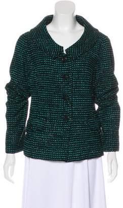 St. John Metallic Wool Blazer