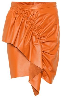 985453ecceba Isabel Marant Nela leather miniskirt