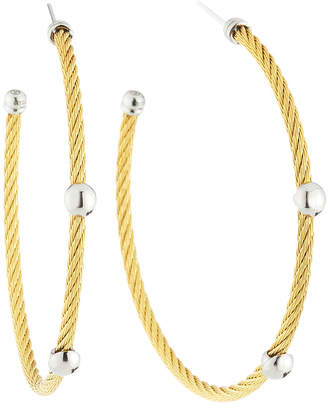 Alor Cable Hoop Earrings, Golden