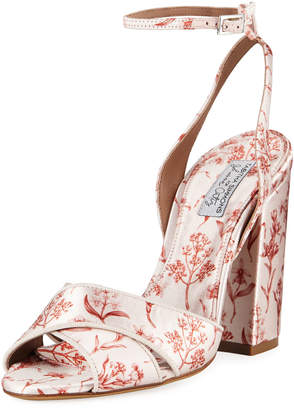 Tabitha Simmons Connie Floral-Print Ankle Sandals