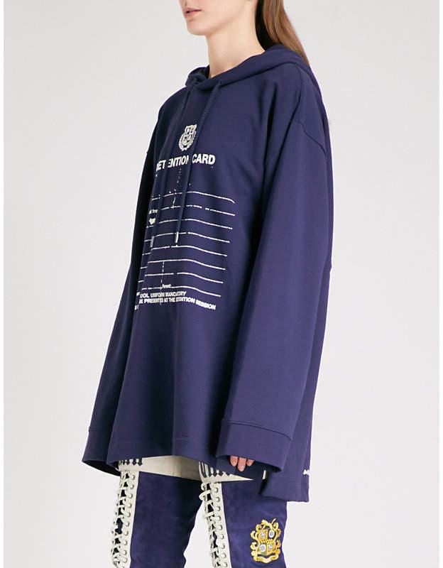 Detention-print jersey hoody