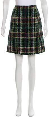 Max Mara Weekend Plaid Virgin-Wool Knee-Length Skirt