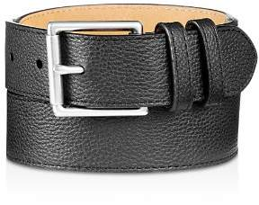 Cole Haan Flat Strap Leather Belt with Stitched Edge