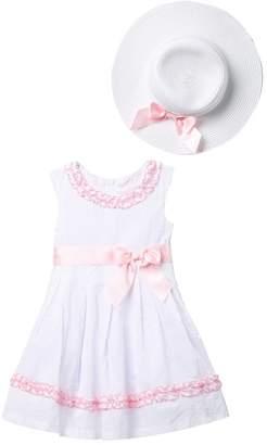 0d5a8d0fb223 Iris   Ivy Clip Dot Sleeveless Waistline Dress   Hat Set (Toddler   Little  Girls