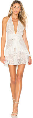 For Love & Lemons Lily Halter Dress in White $259 thestylecure.com