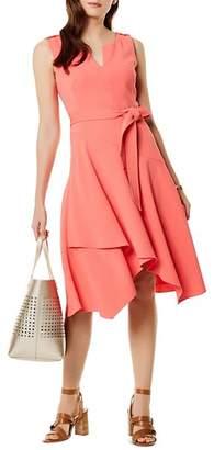 Karen Millen Crossover-Hem Midi Dress