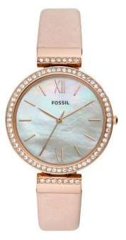 Fossil Madeline Three-Hand Blush Leather Strap Watch