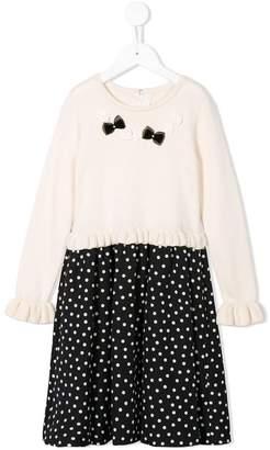 Familiar polka dot bow dress