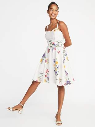 Old Navy Fit & Flare Floral Cami Dress for Women