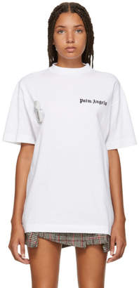 Palm Angels White New Basic T-Shirt