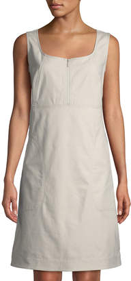 Lafayette 148 New York Amoya Zip-Front Utility Dress