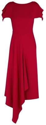 Roland Mouret Warren Red Draped Cady Dress