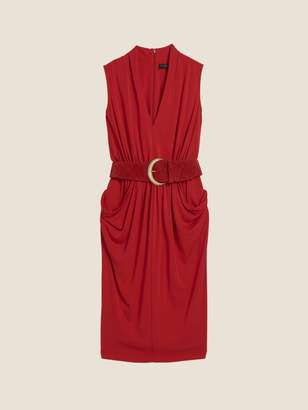DKNY Draped Dress With Belt