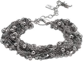 Vera Wang Simply Vera Bead & Chain Cluster Bracelet