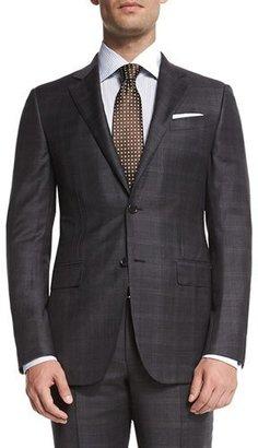 Ermenegildo Zegna Trofeo Plaid Two-Piece Suit, Gray $3,095 thestylecure.com