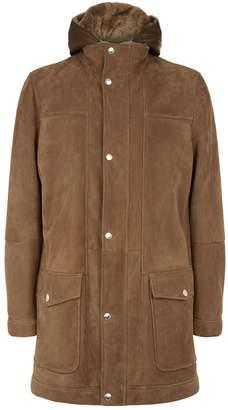 Brunello Cucinelli Hooded Longline Shearling Coat