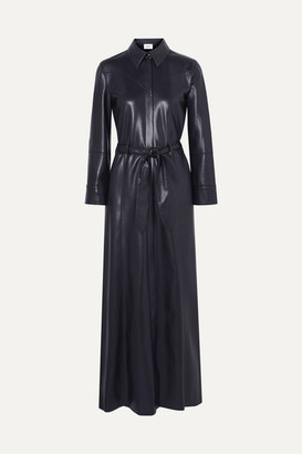 Nanushka - Taurus Vegan Leather Maxi Dress - Navy