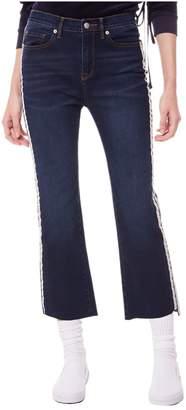 Juicy Couture (ジューシー クチュール) - Indigo Denim Side Stripe Flare Crop Jean