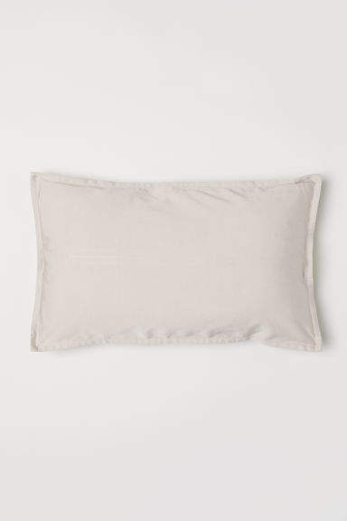 H&M - Solid-color Cushion Cover - Beige