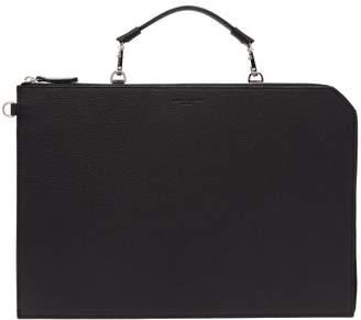 Nosakhari - Standout Top Handle Leather Folio - Mens - Black