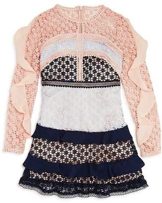 5b99fb9c0a6 Arabella Bardot Junior Girls  Color-Block Lace Dress - Big Kid