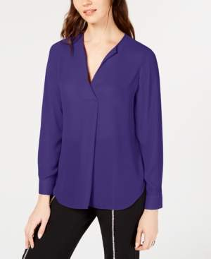 INC International Concepts I.n.c. Pleated V-Neck Top, Created for Macy's