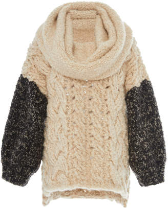 Tuinch Exclusive Cable-Knit Cashmere Sweater