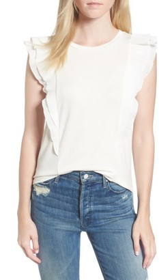 Women's Ella Moss Nadja Flutter Sleeve Top $128 thestylecure.com