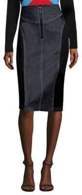 Diane von Furstenberg Zip-Front Jean Skirt