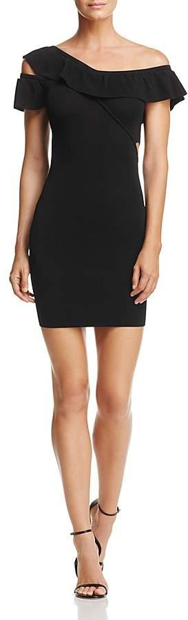 GUESS Kenley One-Shoulder Cutout Dress