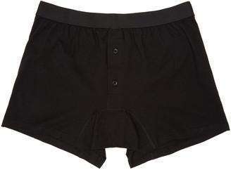Comme des Garçons Shirt Black Button-Fly Boxer Briefs $45 thestylecure.com