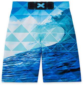 Arizona Photoreal Wave Swim Trunk - Boys 4-20 & Husky
