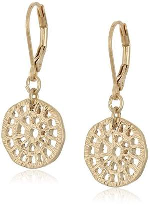 "lonna & lilly Classics"" -Tone Disc Drop Earrings"