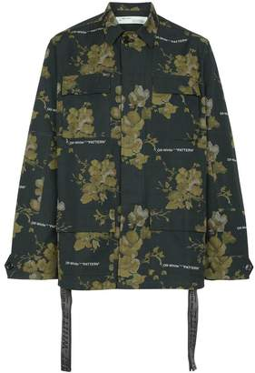 Off-White x Browns green floral shirt jacket
