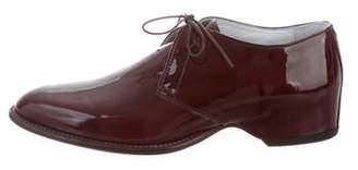 Maison Margiela Patent Leather Round-Toe Oxfords w/ Tags