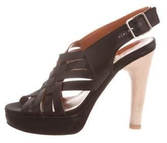 Lanvin Satin Platform Sandals