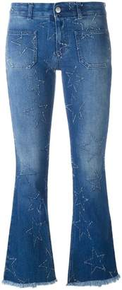 Stella McCartney '70's Flare' star detail jeans