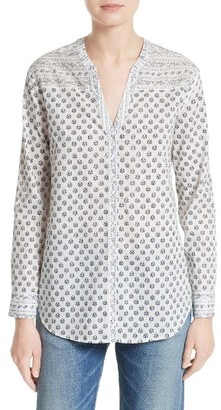Women's Soft Joie Dane Print Cotton Blouse $168 thestylecure.com