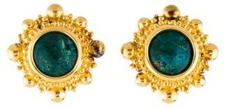 Stephen Dweck Chrysocolla Clip-On Earrings