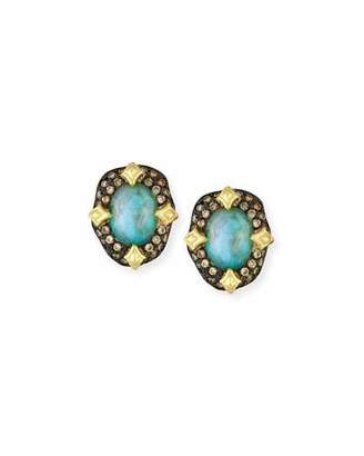 Armenta Old World Peruvian Opal Earrings with Diamonds