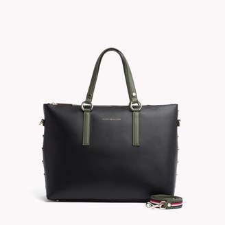 Tommy Hilfiger Leather Hardware Tote
