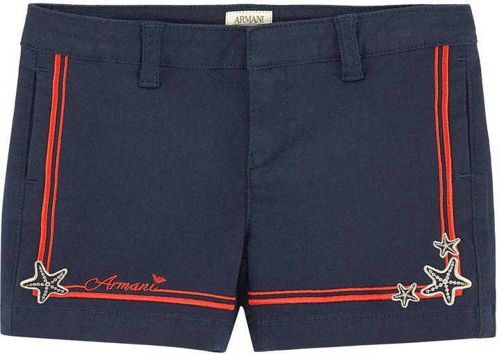 Armani JuniorEmbroidered shorts