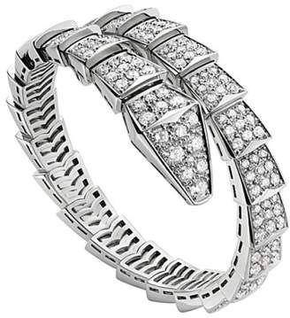 Bulgari Bvlgari 18K White Gold and Diamond Serpenti Bracelet BR855231