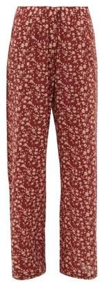 Dodo Bar Or Hattie Floral Print Wide Leg Trousers - Womens - Red Multi