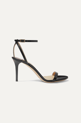 Jimmy Choo Minny 85 Leather Sandals - Black